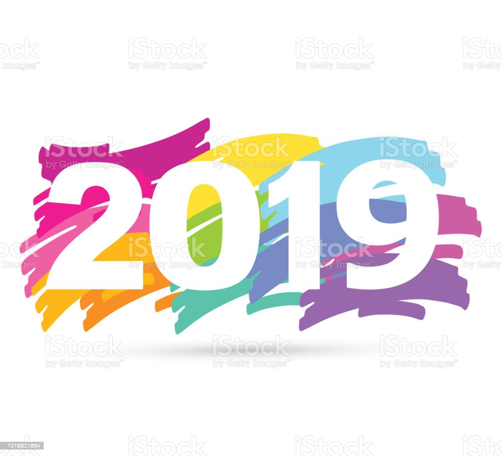 Happy new 2019 banner royalty-free happy new 2019 banner stock vector art  &