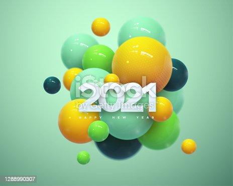 istock Happy New 2021Year. 1288990307
