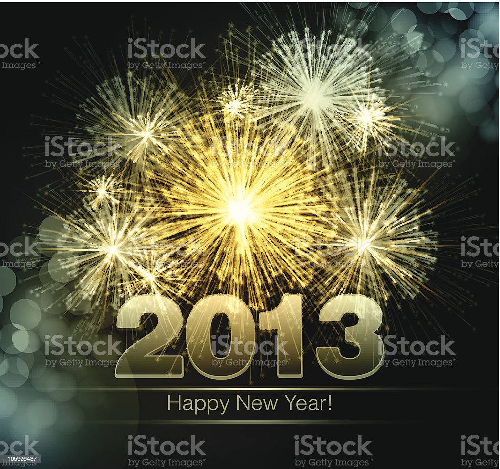 Happy New Year 2013 background vector art illustration