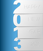 Happy New Year 2013 vector card