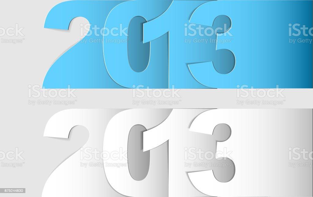 Happy New Year 2013 vector card vector art illustration