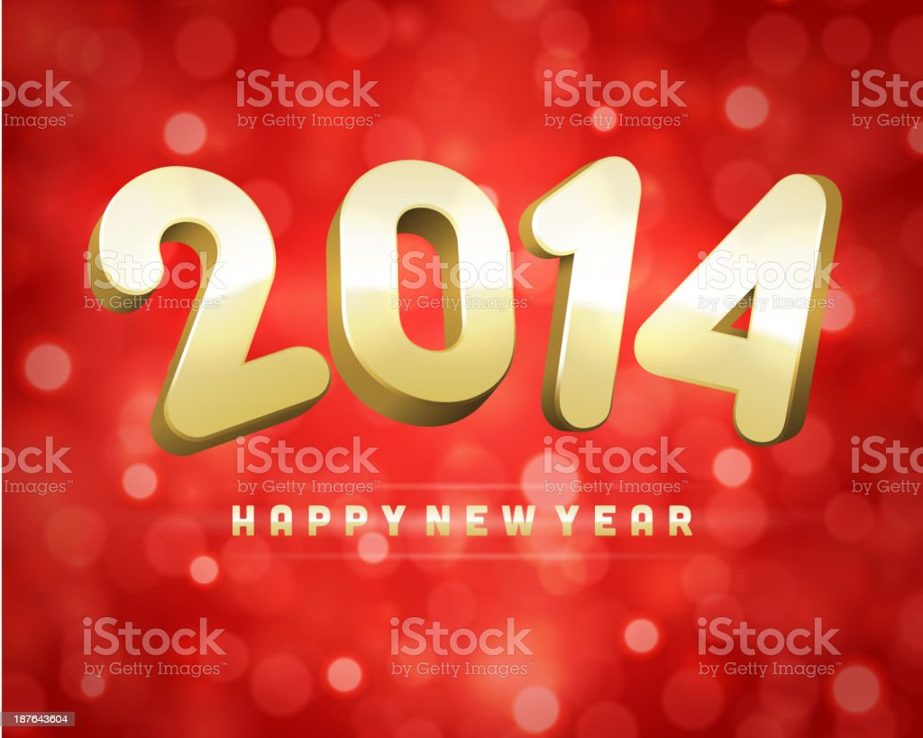 Happy New Year 2014 3d message and light royalty-free happy new year 2014 3d message and light stock vector art & more images of abstract