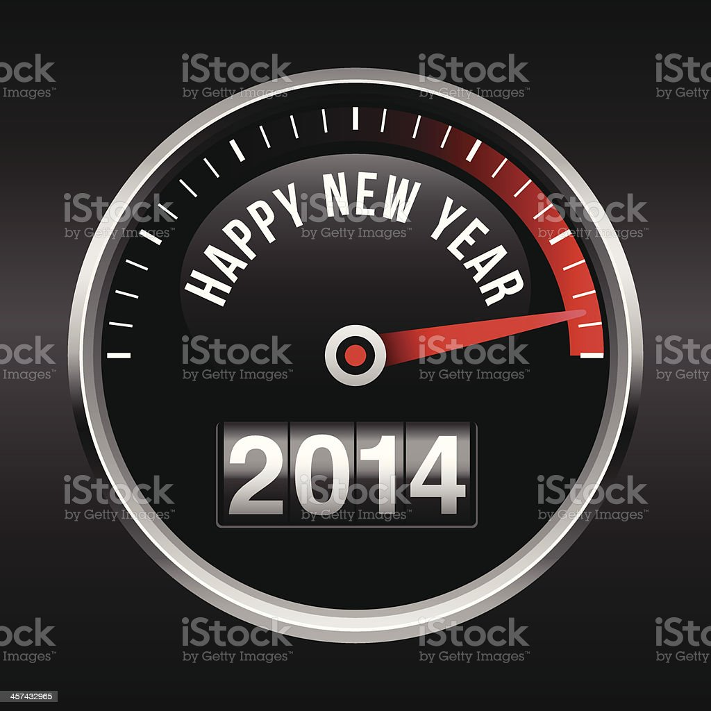 Happy New Year 2014 Dashboard Background vector art illustration