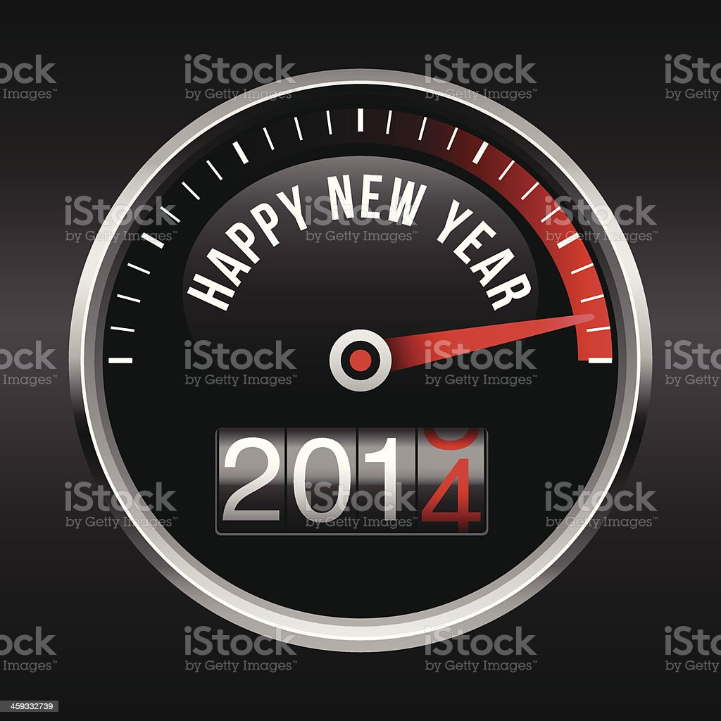 Happy New Year 2014 Dashboard Background royalty-free stock vector art