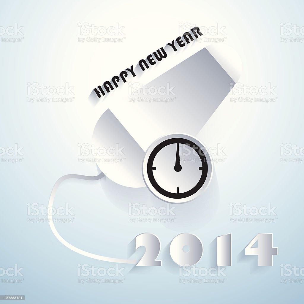 happy new year 2014 design. royalty-free stock vector art