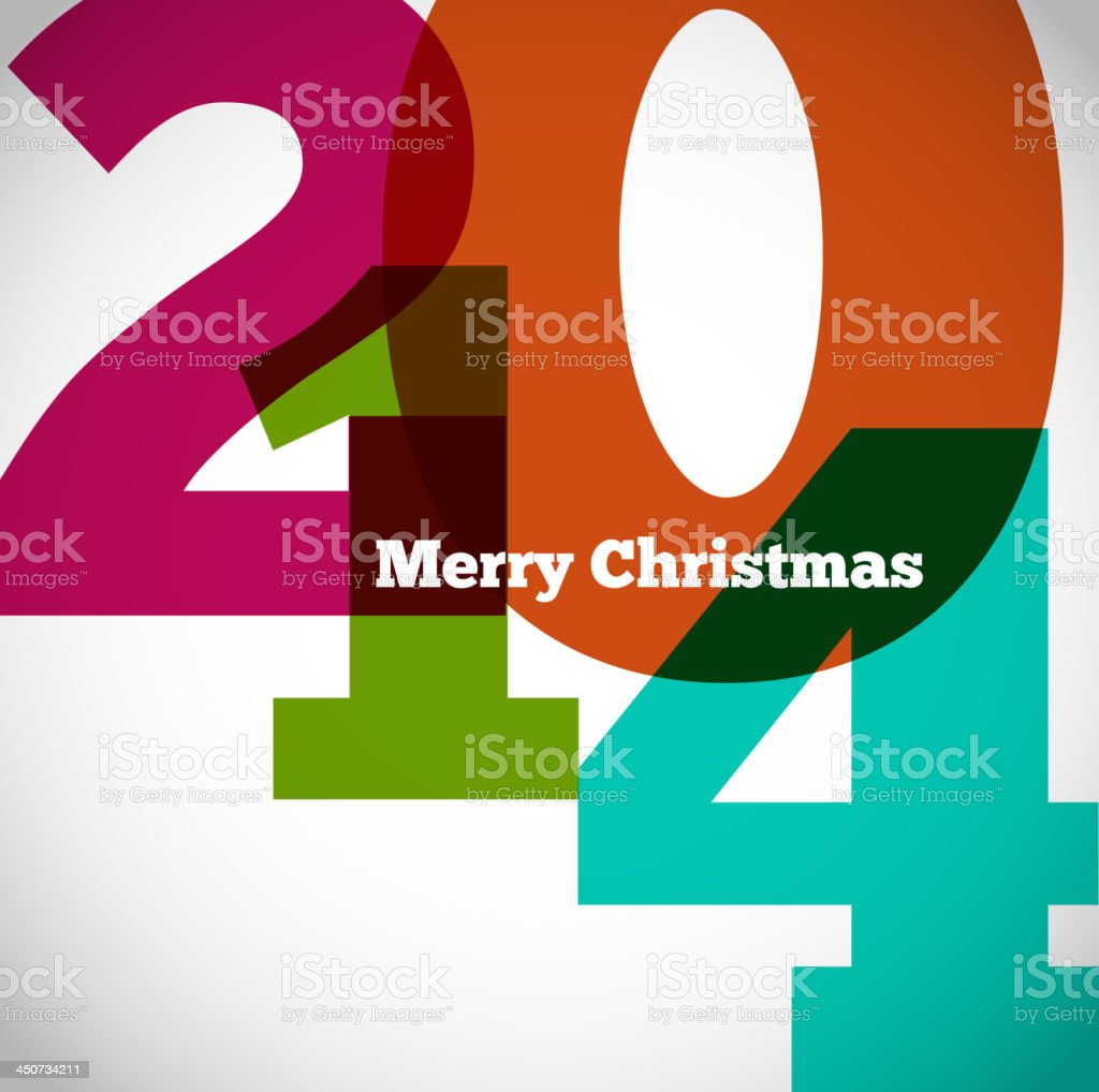 Happy new year 2014 retro design royalty-free stock vector art