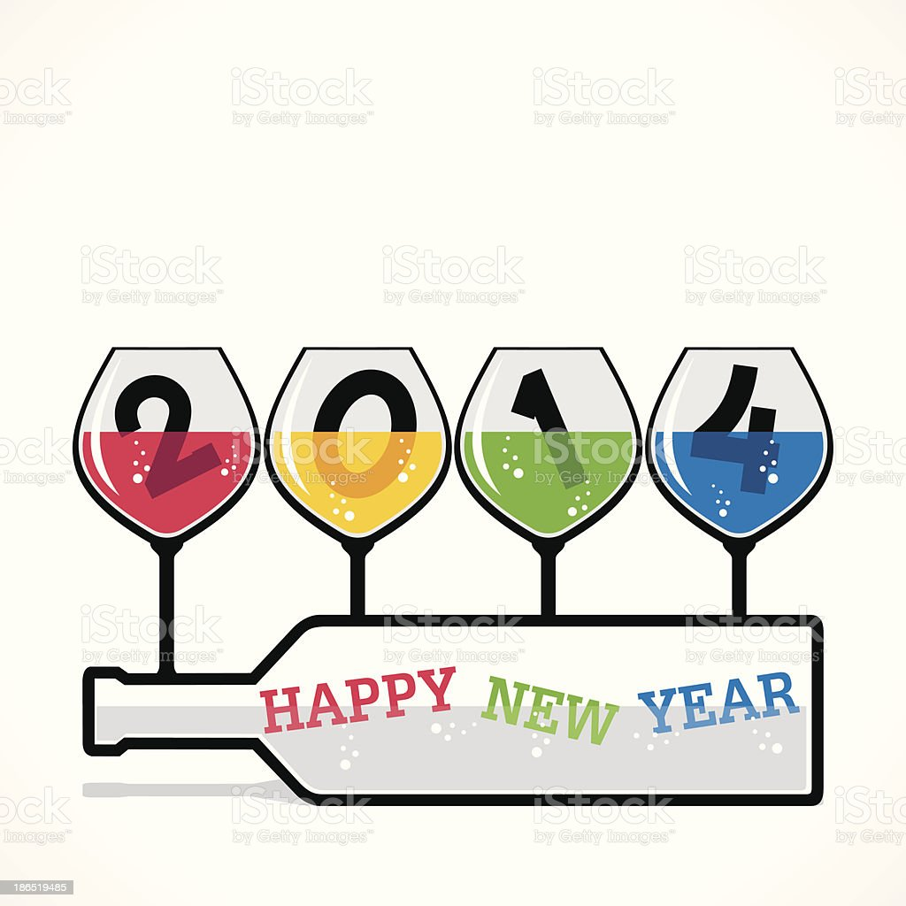 happy new year 2014 royalty-free happy new year 2014 stock vector art & more images of 2014