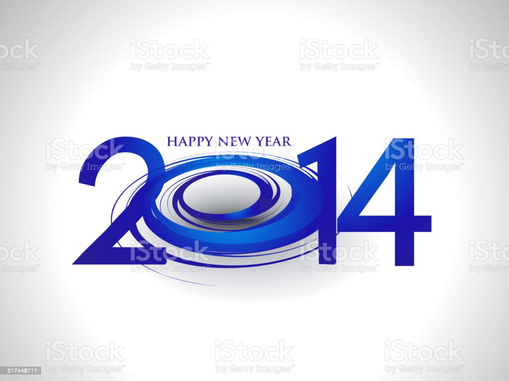 Happy New Year 2014 Stock Vector Art More Images Of 2014 517448711