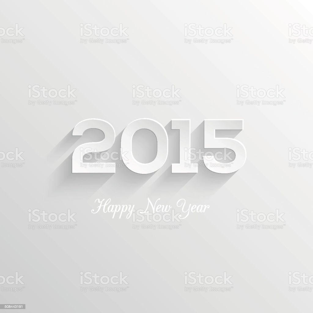 Happy new year 2015 creative greeting card design. vector art illustration