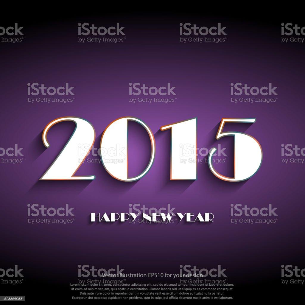 Frohes Neues Jahr 2015 Kreative Grußkarte Design Stock Vektor Art ...