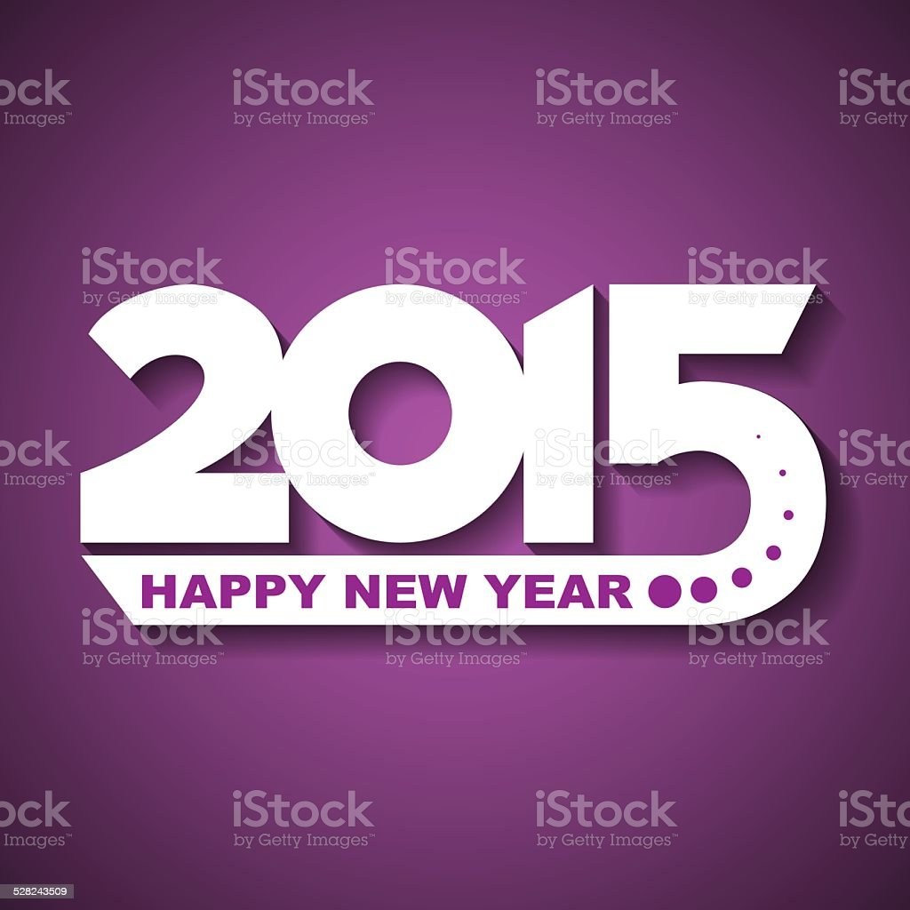 Happy New Year 2015 Greeting Card Stock Vector Art More Images Of