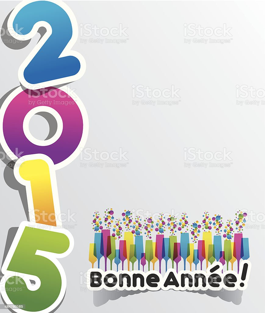 Happy New Year 2015 royalty-free stock vector art