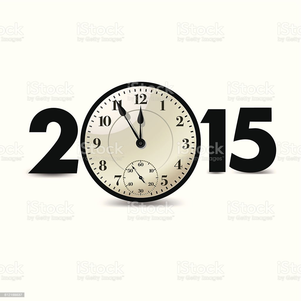 Happy new year 2015 vector art illustration