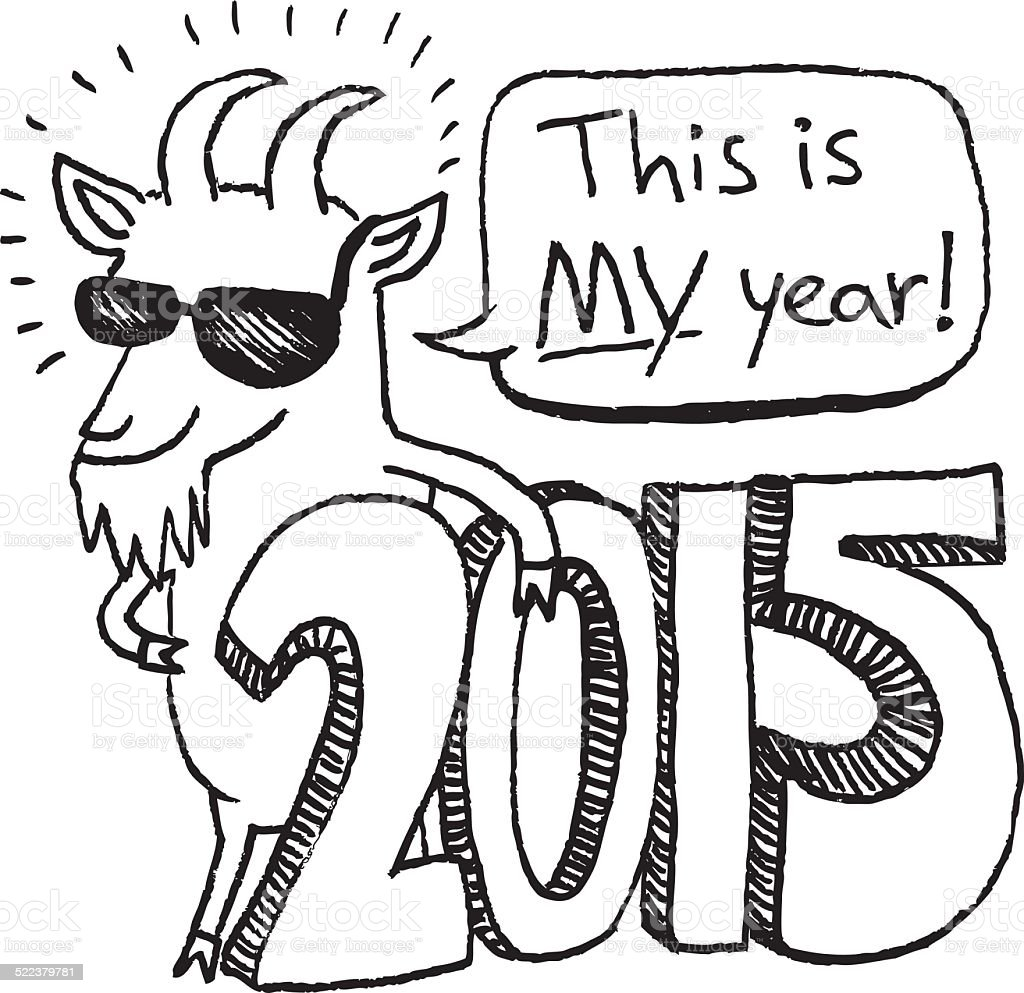 happy new year 2015 year of the goat royalty free happy new year