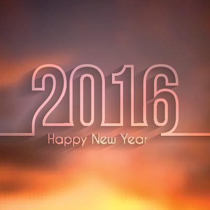 happy new year 2016 - Beautiful Sky