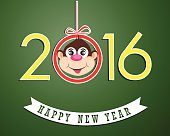 Happy New Year 2016 year of the monkey