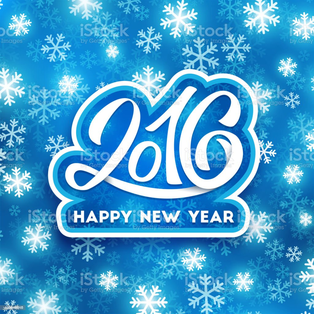 Happy New Year 2016 Vector Greeting Card Stock Vector Art More