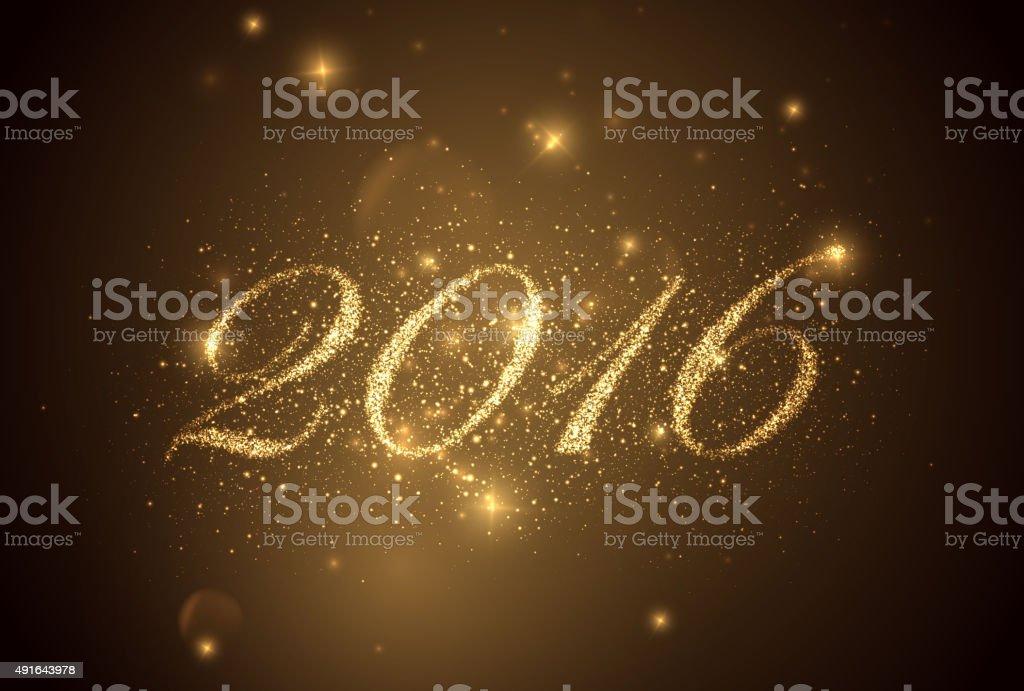 happy new year 2016. vector art illustration