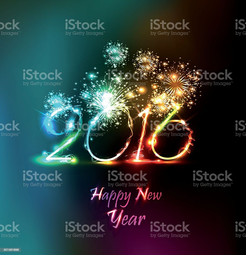 Happy New Year 2016 Stock Illustration Download Image Now Istock