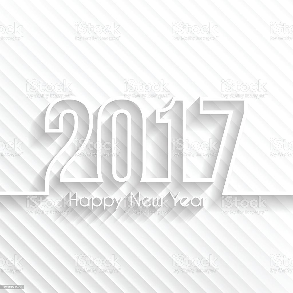 happy new year 2017 abstract background design illustration royalty free happy new year