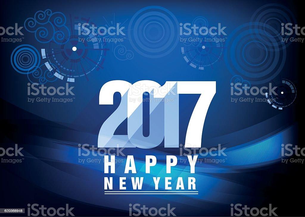 Happy new year 2017 and fireworks happy new year 2017 and fireworks - stockowe grafiki wektorowe i więcej obrazów 2017 royalty-free