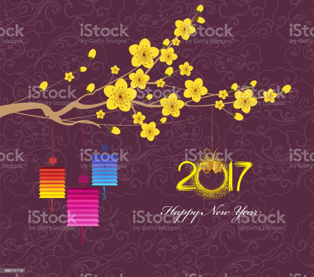 Happy New Year 2017 Chinese New Year Of The Rooster Stock Vector Art