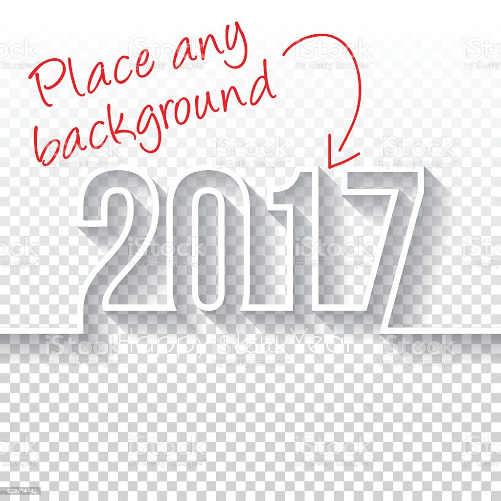 happy new year 2017 Design - Blank Backgroung vector art illustration