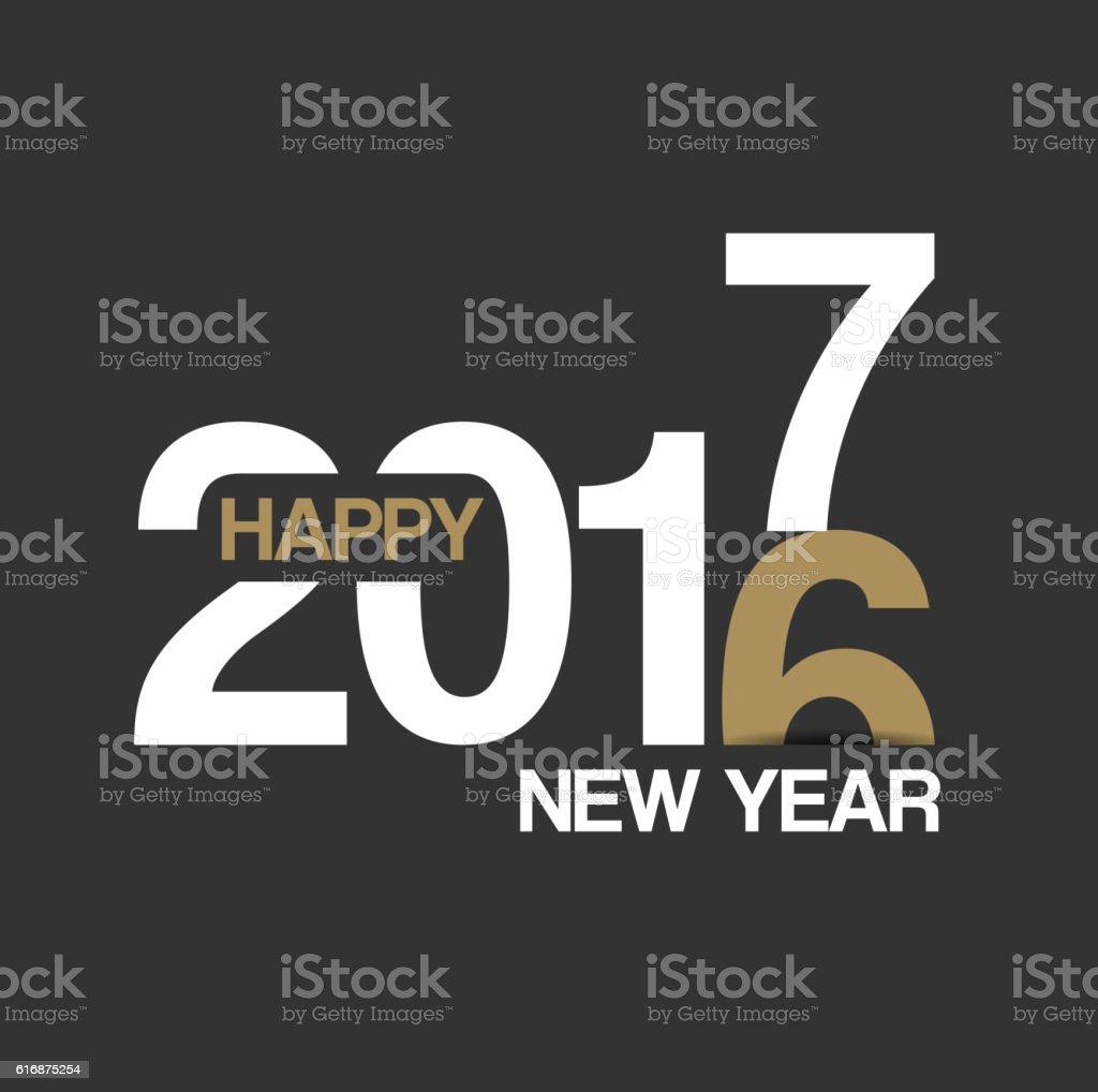 Happy New Year 2017 design vector art illustration