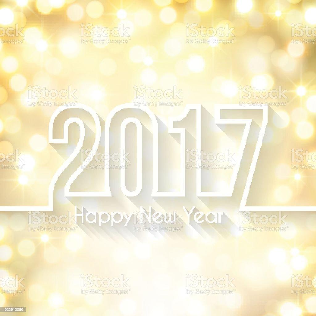Happy New Year 2017 Glowing Background Light Stock Vektor Art Und