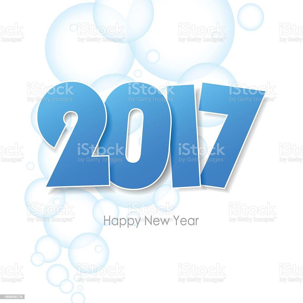 Frohes Neues Jahr 2017 Begrüßungkreditkarte Erfolgen Wasser Blasen ...