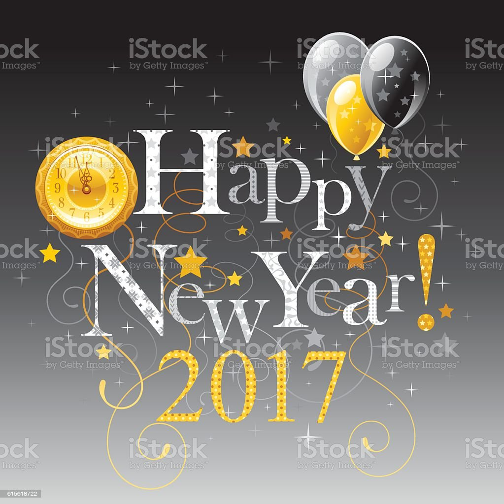 Happy New Year 2017 Holiday Banner Stock Vector Art More Images Of