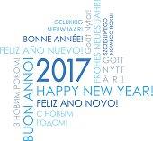 istock Happy New Year 2017 - International Greeteng Card 540603646