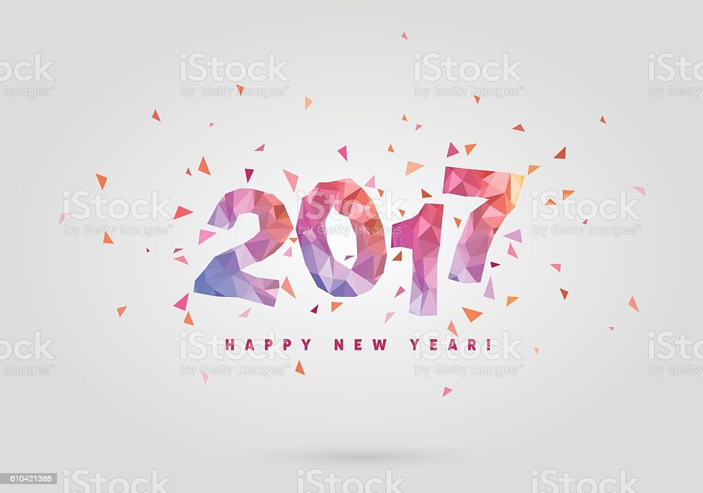 Happy New Year 2017 vector background. vector art illustration