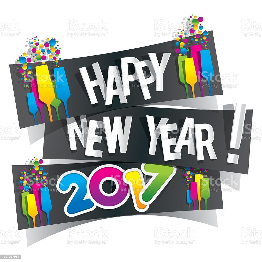 Happy new year 2017 royalty-free happy new year 2017 stock vector art & more images of 2017