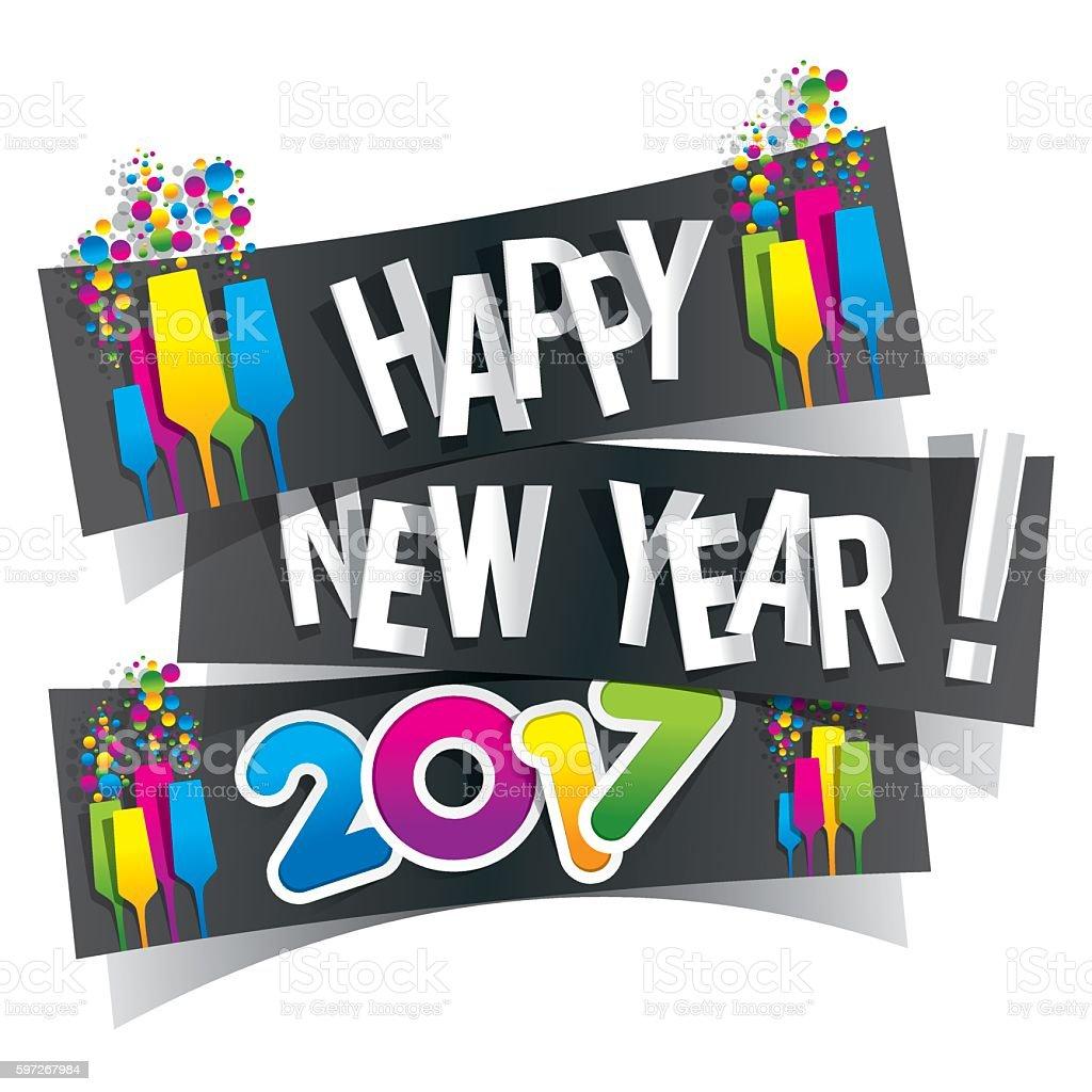 Frohes neues Jahr 2017  Lizenzfreies frohes neues jahr 2017 stock vektor art und mehr bilder von 2017