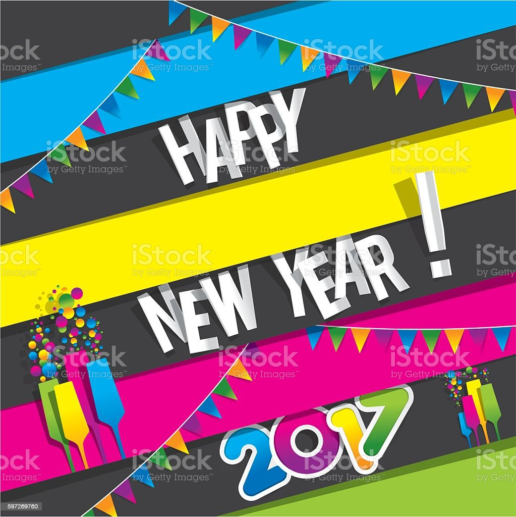 Happy new year 2017 royalty-free happy new year 2017 stock illustration - download image now