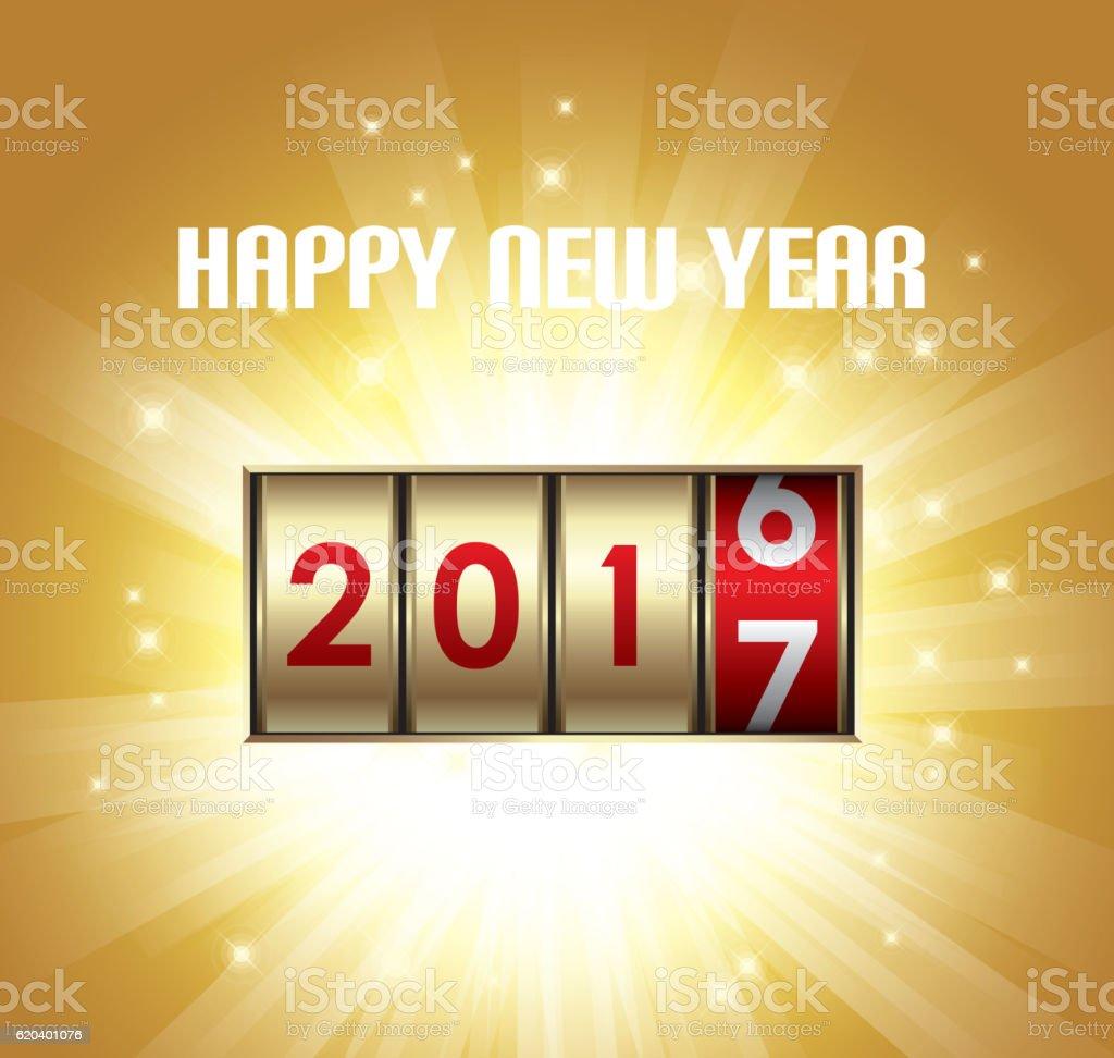 Heureuse nouvelle année 2017 - Illustration vectorielle