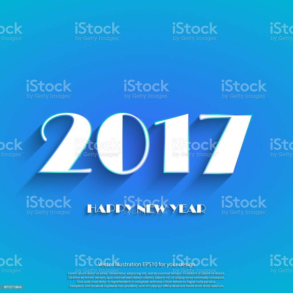 Happy new year 2017 white text on blue background template holidays happy new year 2017 white text on blue background template holidays card winter holiday m4hsunfo