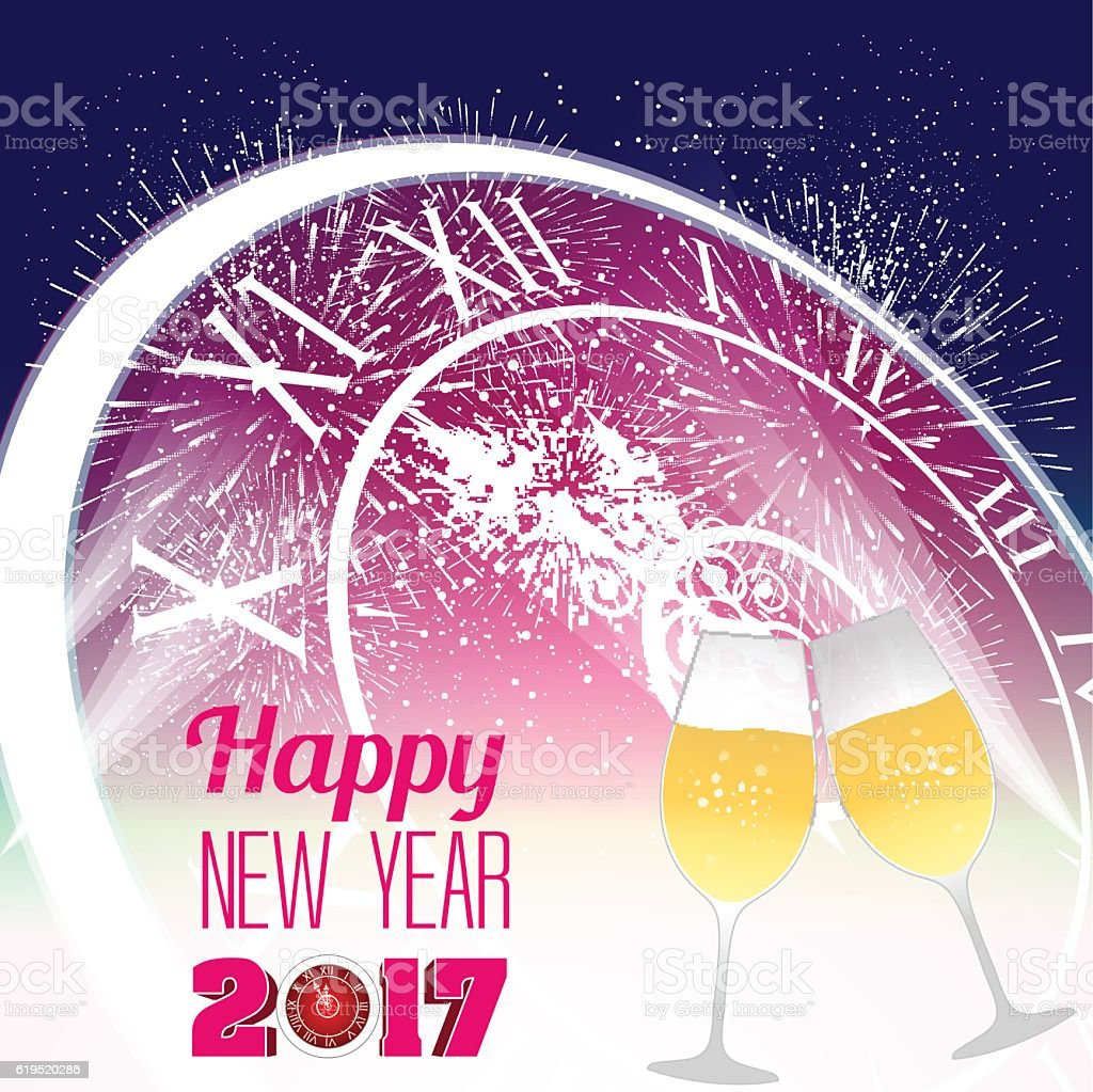 2017 backgrounds clip art cocktail creativity happy new year 2017 with champagne glasses