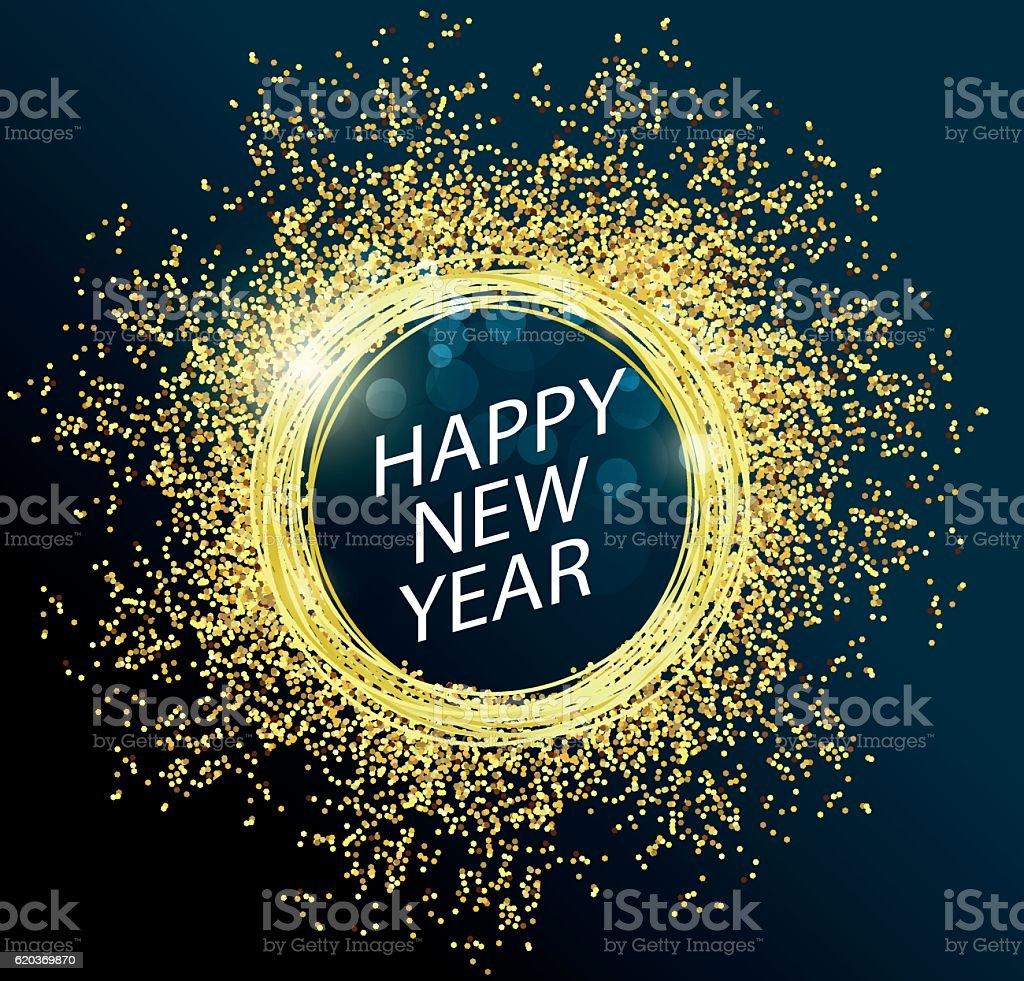 Happy new year 2017 with gold happy new year 2017 with gold - stockowe grafiki wektorowe i więcej obrazów 2017 royalty-free