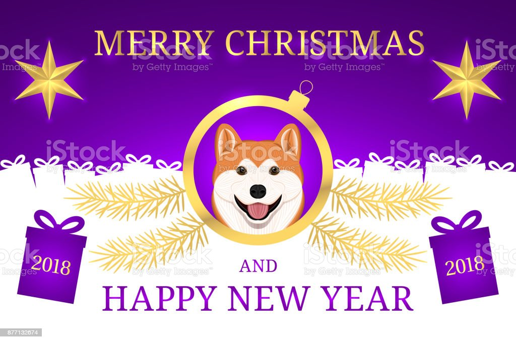 happy new year 2018 and merry christmas with akita stock illustration download image now istock https www istockphoto com vector happy new year 2018 and merry christmas with akita gm877132674 244785448
