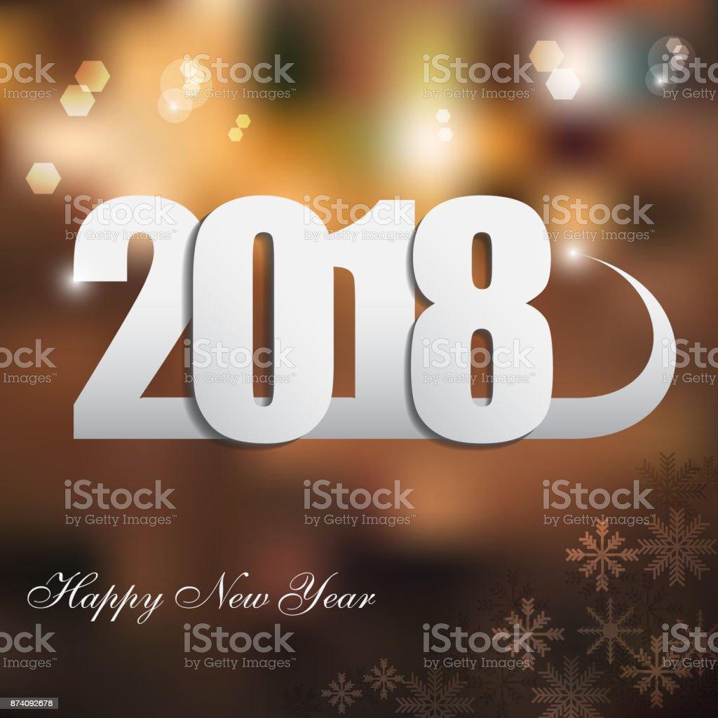 Ilustración de Feliz Año Nuevo 2018 Decoración De Fondo Plantilla De ...