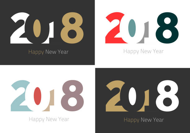 Happy New Year 2018 Background for your Christmas vector art illustration
