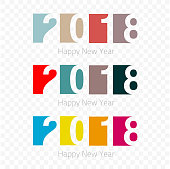 Abstract modern Happy New Year 2018 Background for your Christmas. EPS 10 vector illustration, contains transparencies. High resolution jpeg file included.
