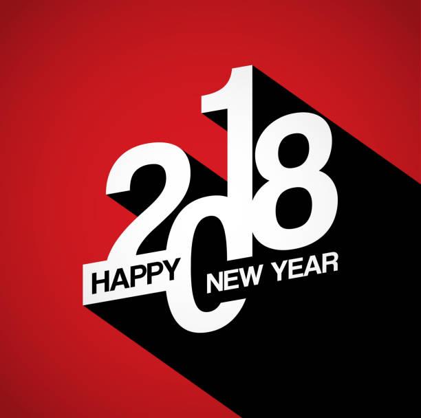 stockillustraties, clipart, cartoons en iconen met happy new year 2018 achtergrond voor uw kerst - 2018