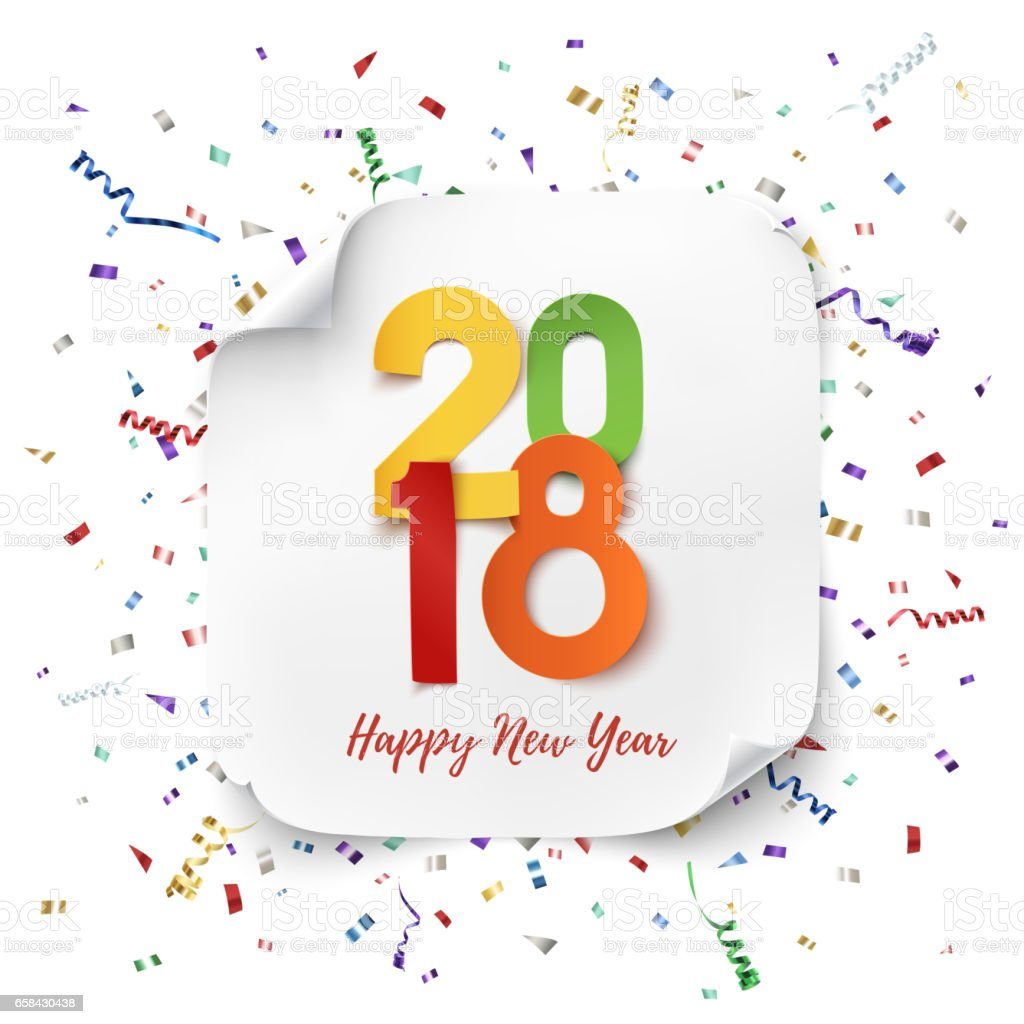 Happy new year 2018 background template stock vector art more happy new year 2018 background template royalty free happy new year 2018 background template voltagebd Gallery