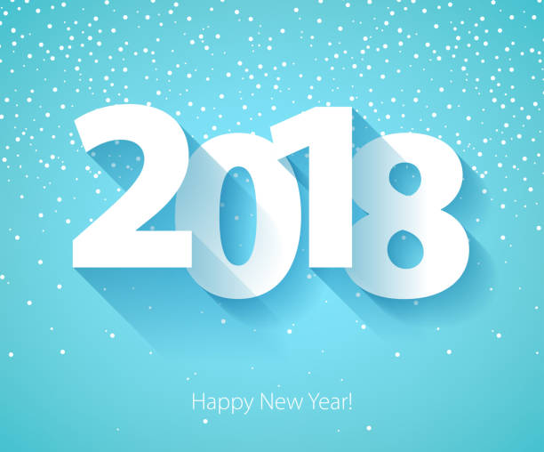 happy new year 2018 background vector art illustration