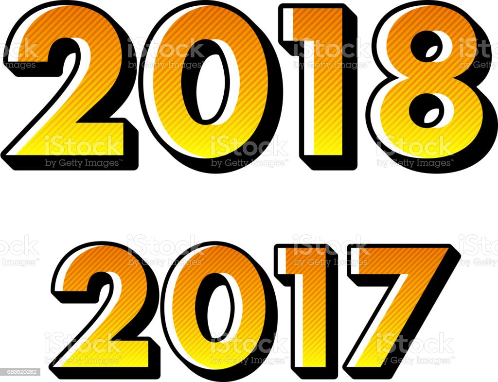 Happy new year 2018 background stock vector art more images of happy new year 2018 background royalty free happy new year 2018 background stock vector art voltagebd Images