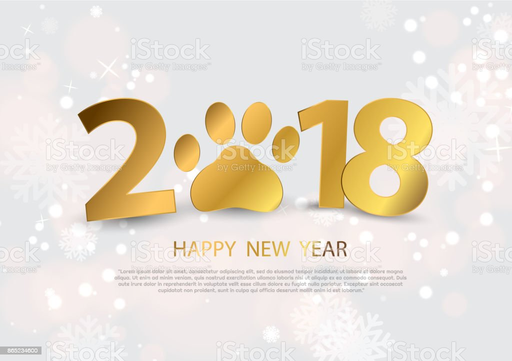 happy new year 2018 background with gbeautiful various snowflakes royalty free happy new year