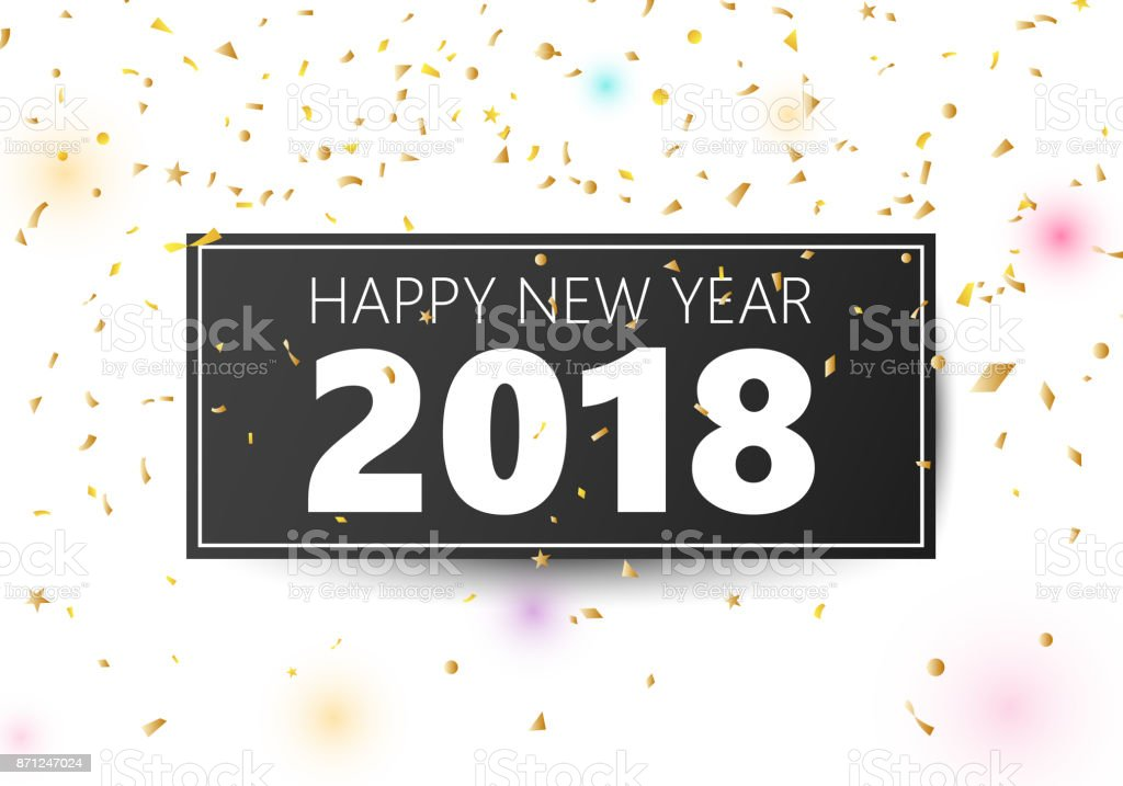 happy new year 2018 banner royalty free happy new year 2018 banner stock vector art